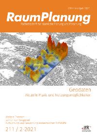 """Themenheft: RaumPlanung (02/2021): Schwerpunkt """"Geodaten"""""""