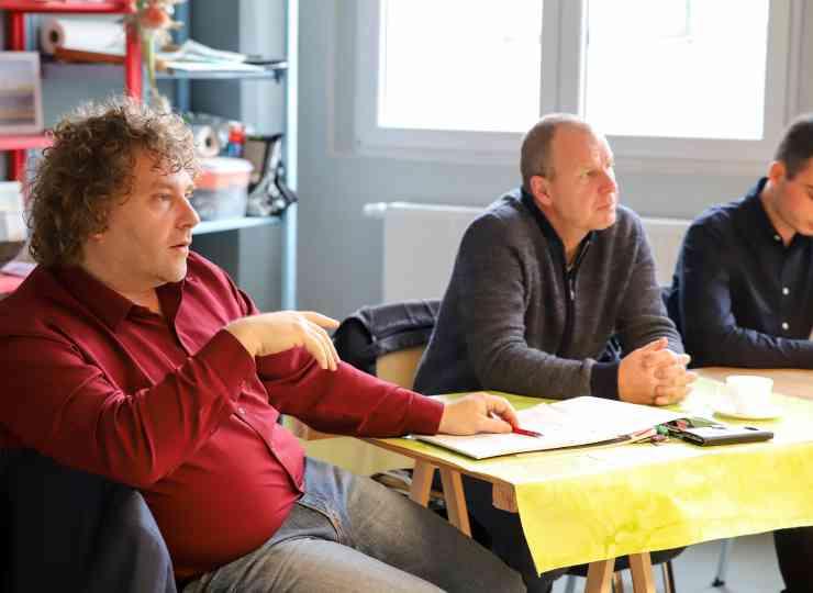 Oberbürgermeister Torsten Pötzsch während des Strategiegespräches