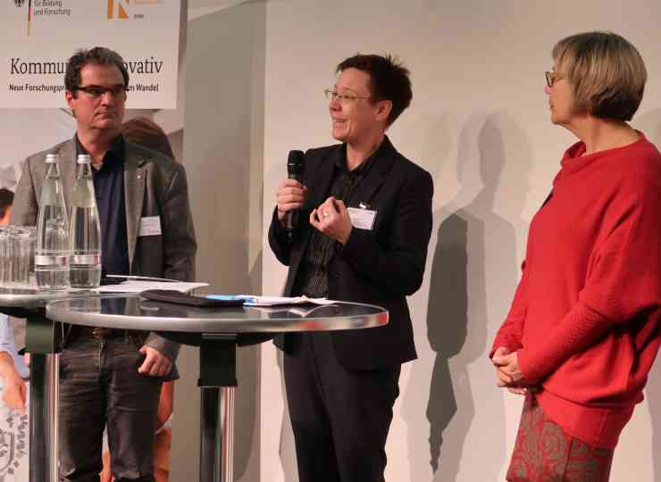 Dr. Uwe Ferber (STADTLAND GmbH), Dr. Vera Grimm (BMBF), Katrin Fahrenkrug (KomKomIn)
