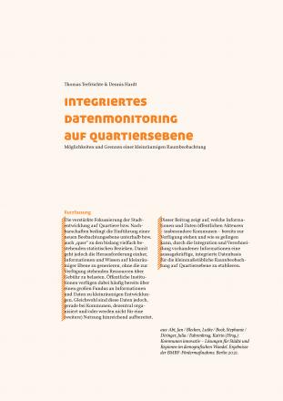 Integriertes Datenmonitoring auf Quartiersebene