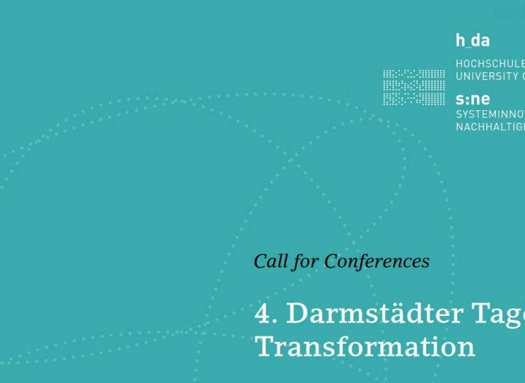 Call for Conferences: Darmstädter Tage der Transformation 2022