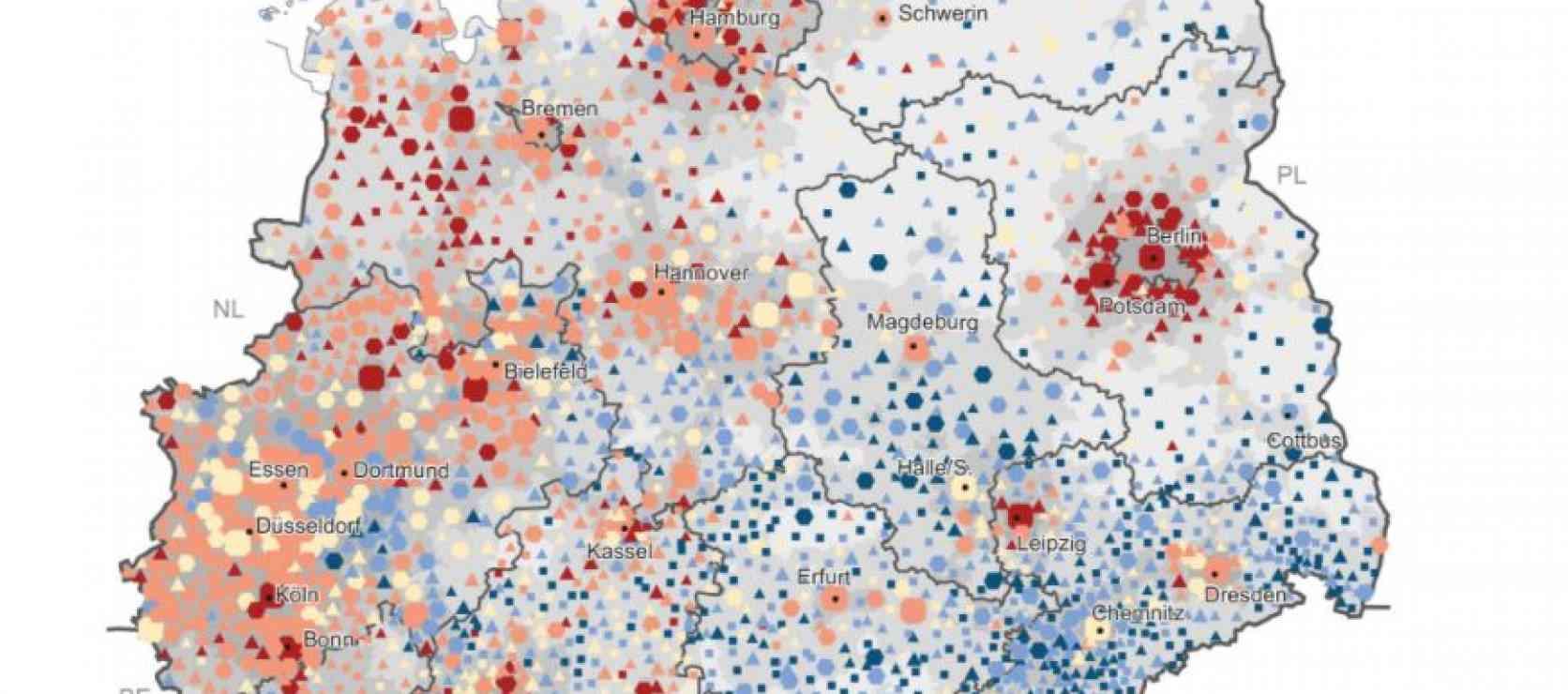 Wachsende und schrumpfende Städte und Gemeinden in Deutschland